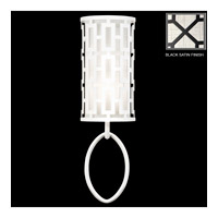 Fine Art Lamps Black and White Story 1 Light Sconce in Black Satin Lacquer 787450-6ST