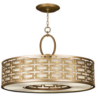 Allegretto Gold 5 Light 40 inch Burnished Gold Leaf Pendant Ceiling Light