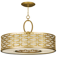 Fine Art Lamps 787640-SF33 Allegretto 5 Light 40 inch Gold Leaf Pendant Ceiling Light