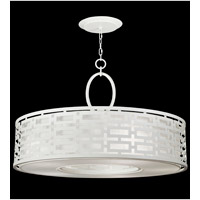 Black + White Story 5 Light 40 inch Studio White Satin Lacquer Pendant Ceiling Light