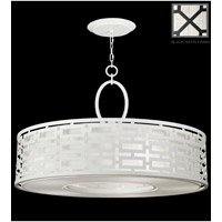 Fine Art Lamps Black and White Story 5 Light Pendant in Black Satin Lacquer 787640-6GU