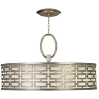 Allegretto Silver 5 Light 40 inch Platinized Silver Leaf Pendant Ceiling Light