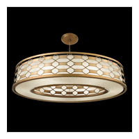 Allegretto Gold 6 Light 57 inch Burnished Gold Leaf Pendant Ceiling Light
