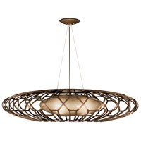 Fine Art Lamps 789040ST Allegretto 3 Light 40 inch Bronze Pendant Ceiling Light
