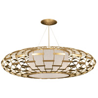 Fine Art Lamps 789240-SF33 Allegretto 3 Light 54 inch Gold Leaf Pendant Ceiling Light
