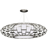 Fine Art Lamps 789240-SF41 Allegretto 3 Light 54 inch Silver Leaf Pendant Ceiling Light