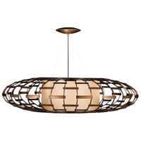 Fine Art Lamps 789240ST Allegretto 3 Light 54 inch Bronze Pendant Ceiling Light