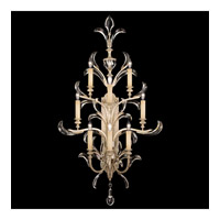 Fine Art Lamps Beveled Arcs 8 Light Sconce in Warm Muted Silver Leaf 789350ST
