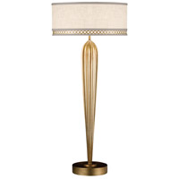 Allegretto Gold 33 inch 60 watt Burnished Gold Leaf Table Lamp Portable Light