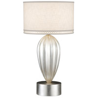 Allegretto Silver 33 inch 150 watt Platinized Silver Leaf Table Lamp Portable Light