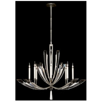 Fine Art Lamps Vol de Cristal 8 Light Chandelier in Platinized Silver Leaf 797340ST