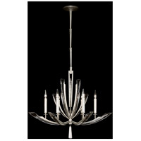 Vol de Cristal 6 Light 36 inch Platinized Silver Leaf Chandelier Ceiling Light