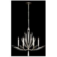Fine Art Lamps 798040ST Vol De Cristal 6 Light 36 inch Silver Chandelier Ceiling Light