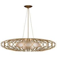 Fine Art Lamps 798540-2ST Allegretto 3 Light 39 inch Gold Pendant Ceiling Light