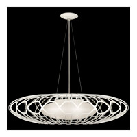 Fine Art Lamps Black + White Story 3 Light Pendant in Studio White Satin Lacquer 798540-5ST