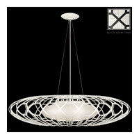 Fine Art Lamps Black and White Story 3 Light Pendant in Black Satin Lacquer 798540-6ST