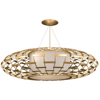 Allegretto Gold 3 Light 54 inch Gold Leaf Pendant Ceiling Light