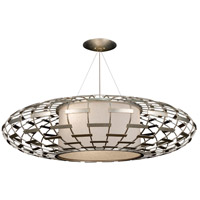 Allegretto Silver 3 Light 54 inch Platinized Silver Leaf Pendant Ceiling Light