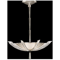 Vol de Cristal 3 Light 28 inch Platinized Silver Leaf Pendant Ceiling Light