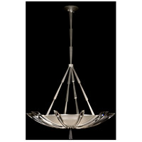 Vol de Cristal 3 Light 39 inch Platinized Silver Leaf Pendant Ceiling Light