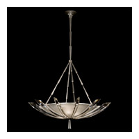 Fine Art Lamps Vol de Cristal 3 Light Pendant in Platinized Silver Leaf 799240ST