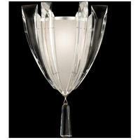 Fine Art Lamps Vol de Cristal 1 Light Coupe in Platinized Silver Leaf 799550ST