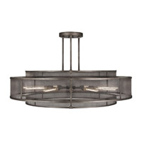 Relativity 12 Light 60 inch Warm Antique Hand-Rubbed Steel Pendant Ceiling Light