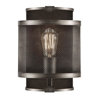 Relativity 1 Light 8 inch Warm Antique Hand-Rubbed Steel Sconce Wall Light