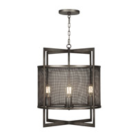 Relativity 4 Light 21 inch Warm Antique Hand-Rubbed Steel Lantern Ceiling Light