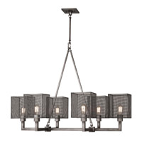 Relativity 6 Light 47 inch Warm Antique Hand-Rubbed Steel Pendant Ceiling Light
