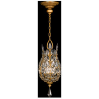 Crystal Laurel Gold 3 Light 11 inch Antiqued Gold Leaf Lantern Ceiling Light