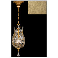 Fine Art Lamps 804640-SF3 Crystal Laurel 3 Light 11 inch Gold Leaf Pendant Ceiling Light