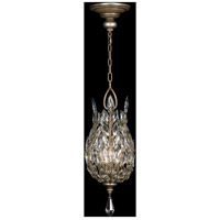 Crystal Laurel 3 Light 11 inch Warm Silver Leaf Lantern Ceiling Light