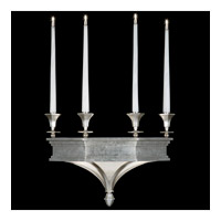 Candlelight 21st Century 6 Light 22 inch Clear Silver Leaf Sconce Wall Light