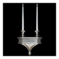 Fine Art Lamps Candlelight 21st Century 4 Light Sconce in Clear Silver Leaf 805250-2ST photo thumbnail