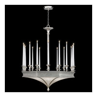 Fine Art Lamps Candlelight 21st Century 24 Light Chandelier in Clear Silver Leaf 805440-2ST