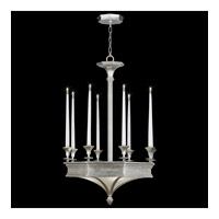 Fine Art Lamps Candlelight 21st Century 12 Light Chandelier in Clear Silver Leaf 805640-2ST