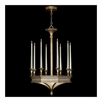 Fine Art Lamps Candlelight 21st Century 12 Light Chandelier in Warm Silver Leaf 805640ST