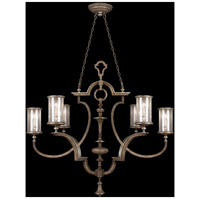Villa Vista 6 Light 59 inch Hand Painted Driftwood Chandelier Ceiling Light