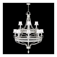 Fine Art Lamps Black and White Story 12 Light Chandelier in Studio White Satin Lacquer 807240-5ST