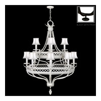 Fine Art Lamps Black and White Story 12 Light Chandelier in Black Satin Lacquer 807240-6ST