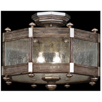 Fine Art Lamps 809240ST Villa Vista 3 Light 20 inch Hand Painted Driftwood Semi-Flush Mount Ceiling Light
