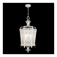 Fine Art Lamps Black + White Story 5 Light Lantern in Studio White Satin Lacquer 809440-5ST
