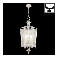 Fine Art Lamps Black and White Story 5 Light Lantern in Black Satin Lacquer 809440-6ST