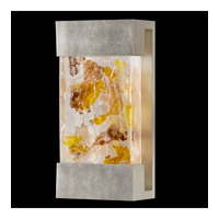 Fine Art Lamps Crystal Bakehouse 2 Light Sconce in Silver Leaf with Polished Block of Carnelian & Citrine Crystal Shards 810850-31ST