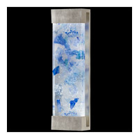 Fine Art Lamps Crystal Bakehouse 2 Light Sconce in Silver Leaf with Polished Block of Cobalt & Aqua Crystal Shards 811050-32ST
