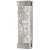Fine Art Lamps Crystal Bakehouse 2 Light Sconce in Silver Leaf with Polished Block of Crystal River Stones 811050-34ST