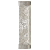 Fine Art Lamps Crystal Bakehouse 2 Light Sconce in Silver Leaf with Polished Block of Crystal River Stones 811150-34ST