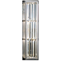 Fine Art Lamps Crystal Enchantment 2 Light Sconce in Silver Leaf 811250ST