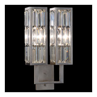 Fine Art Lamps 811350ST Crystal Enchantment 2 Light 11 inch Silver Leaf Sconce Wall Light